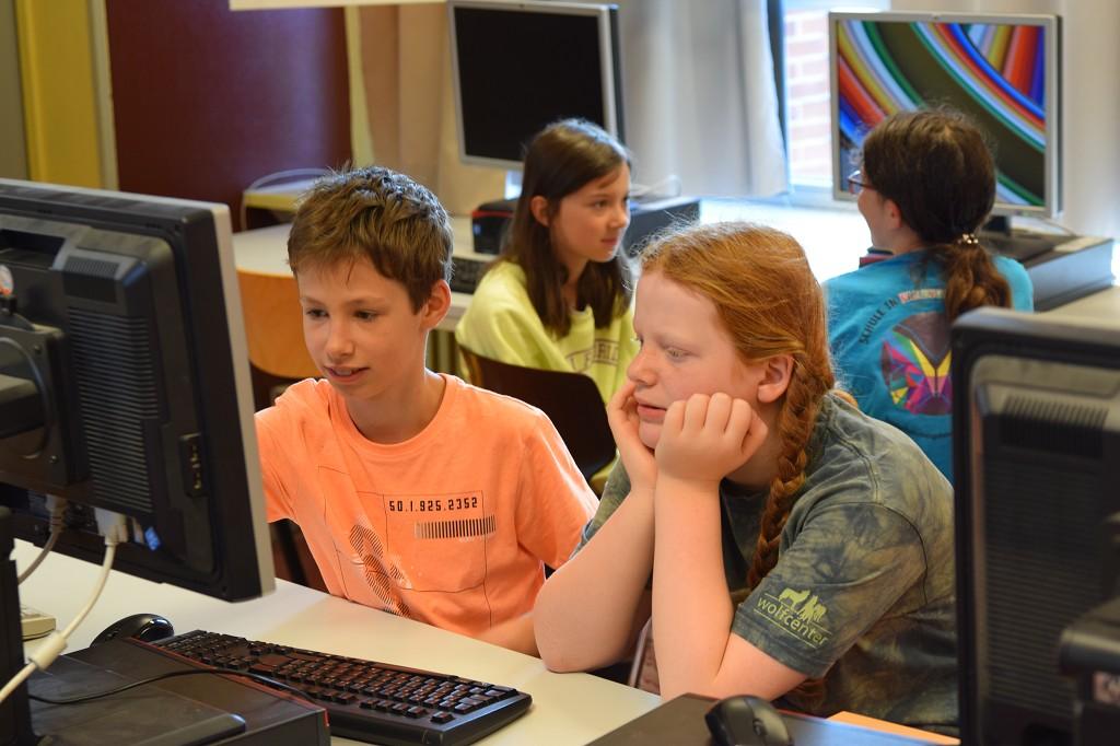 Die Kinder freuen sich aufs Programmieren