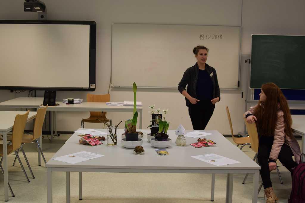 Olga hat einige Pflanzen mitgebracht