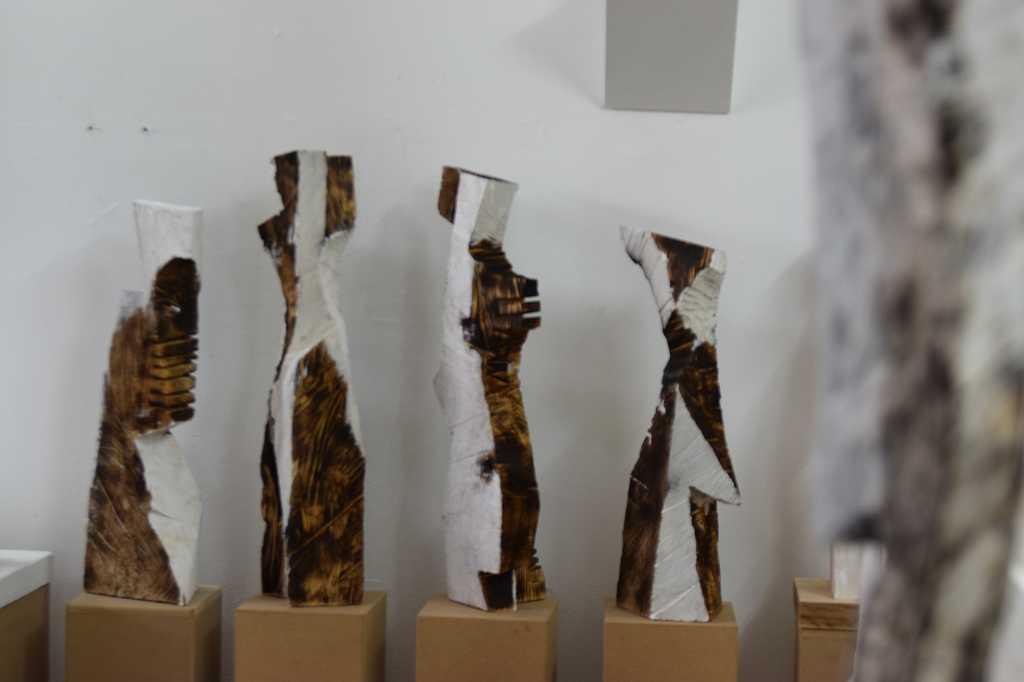 Skulpturen im Atelier von Gunther Gerlach